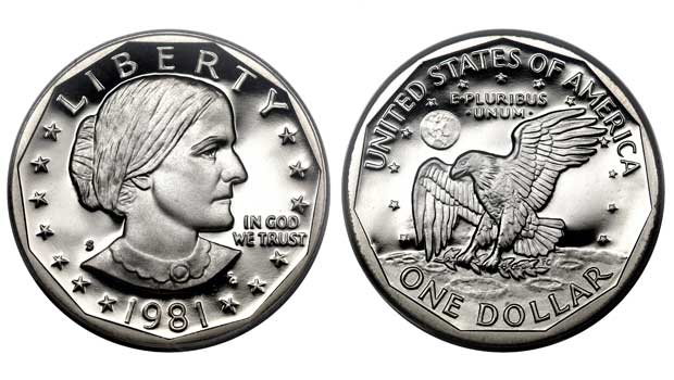 Anthony was the first woman to appear on a U.S. coin.