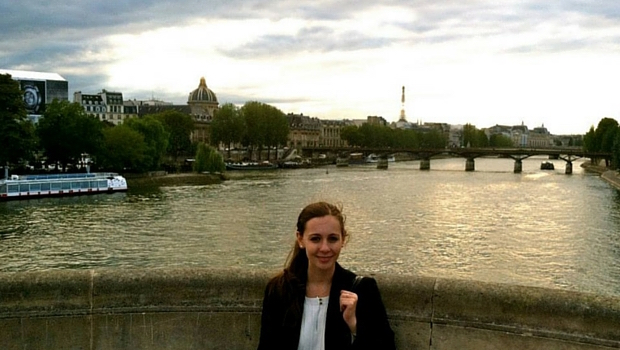 Allison overlooking the Seine in Paris