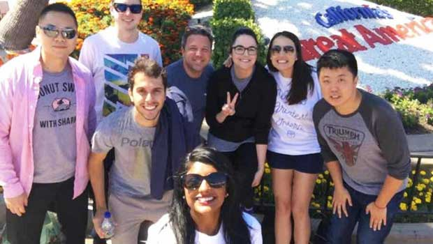 Carlo and his friends are all smiles visiting Great America theme park!