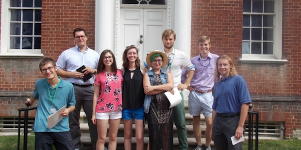 Interns at Hammond Harwood House