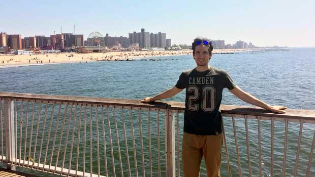 Visiting Coney Island in Brooklyn.