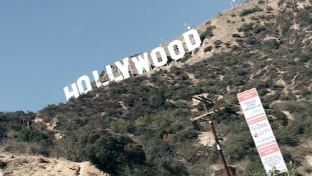 A view of LA's famous Hollywood sign.