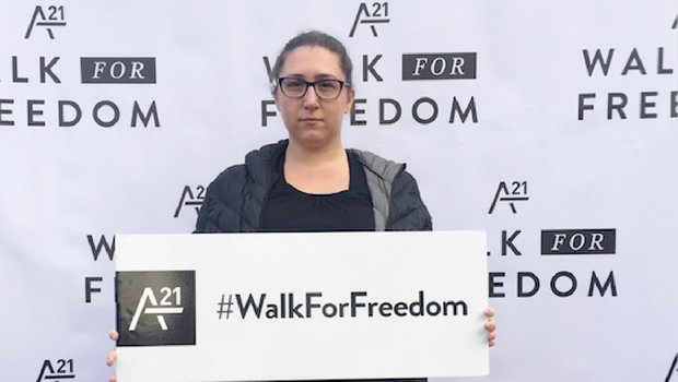 Giuliana attends the A21 Walk for Freedom.