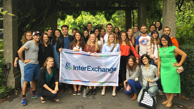 A diverse group of Exchange Visitors attended the Garden outing