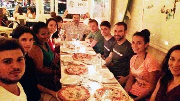 We all enjoyed a hard-earned pizza dinner!