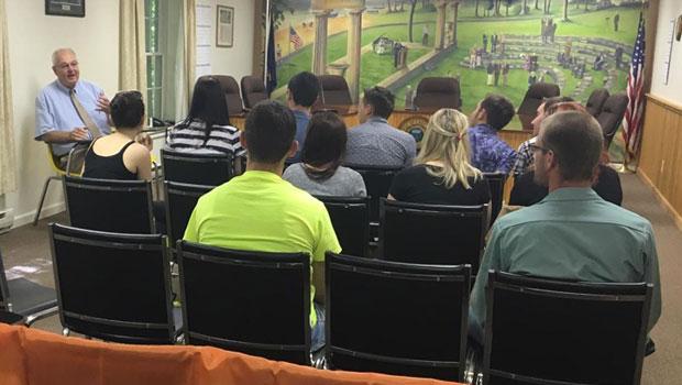 Summer Work Travel participants with Mayor Robert Blais