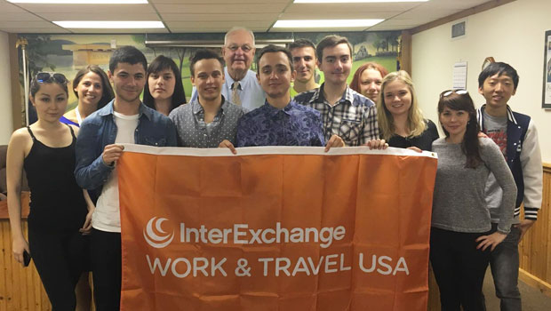 Summer Work Travel participants with Mayor Robert Blais