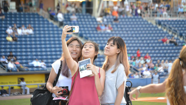 Taking Selfies Inside the Ballpark