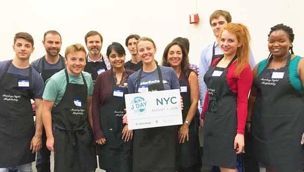 Our group of volunteers in New York City
