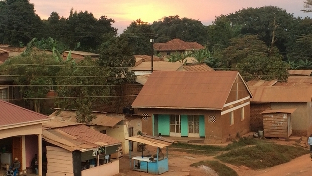 Sunset on the street where I live in Kampala