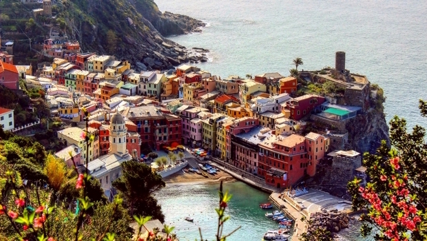 Beautiful views of Cinque Terre, Italy