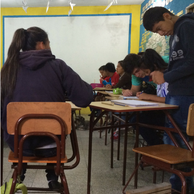 LAVOSI students in their classroom.