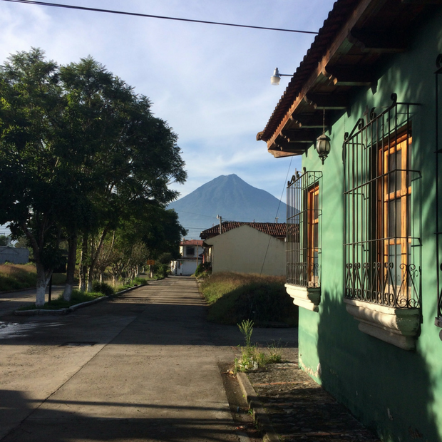 The view of Volcán de Agua from Jocotenago.