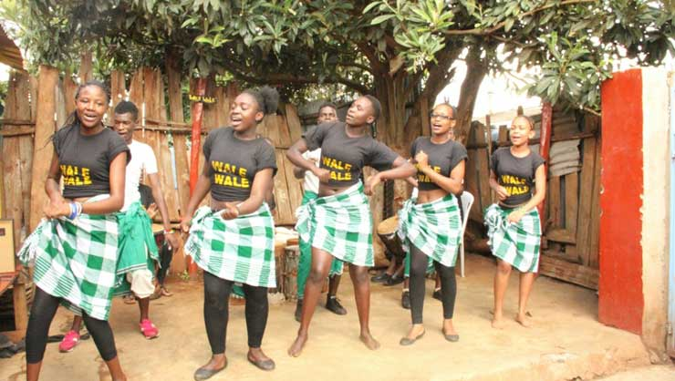 A group of Wale Wale Kenya dancers show off their moves.