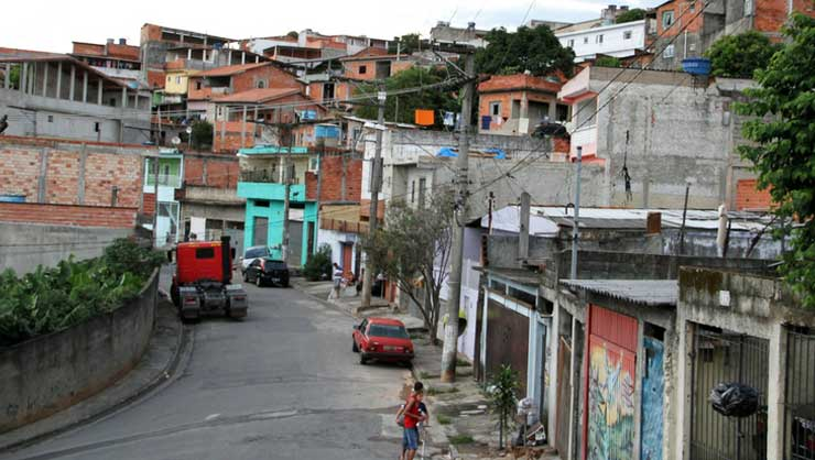 Typical favela street