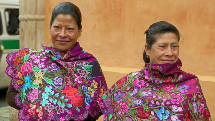 Indigeneous women in Chiapas, Mexico