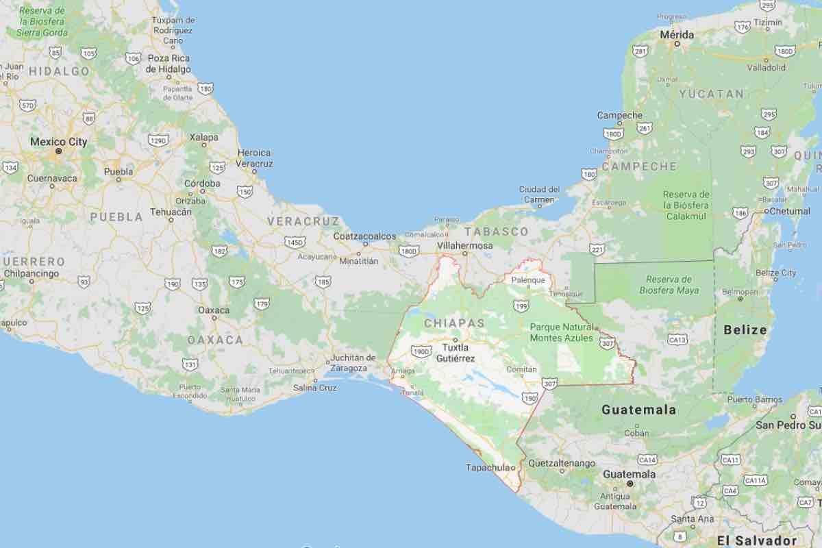 Google Maps Chiapas Mexico