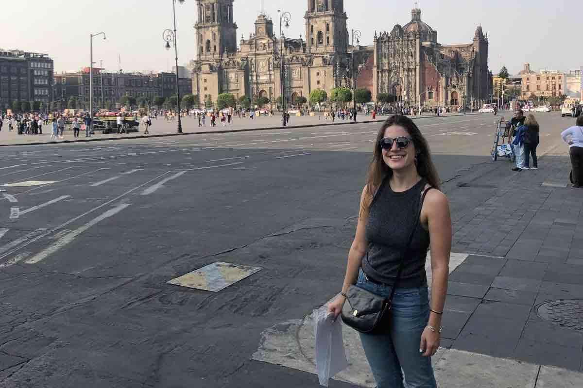 Exploring the historic center square, known as the Plaza de la Constitución, in my free time