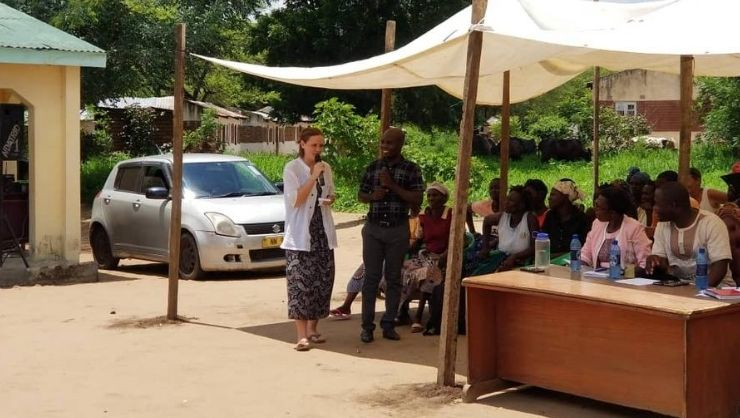 Announcing the community development projects in Chikwawa, Malawi.