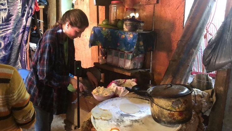 A local healthcare worker invited me into her home to teach me how to make tortillas by hand.