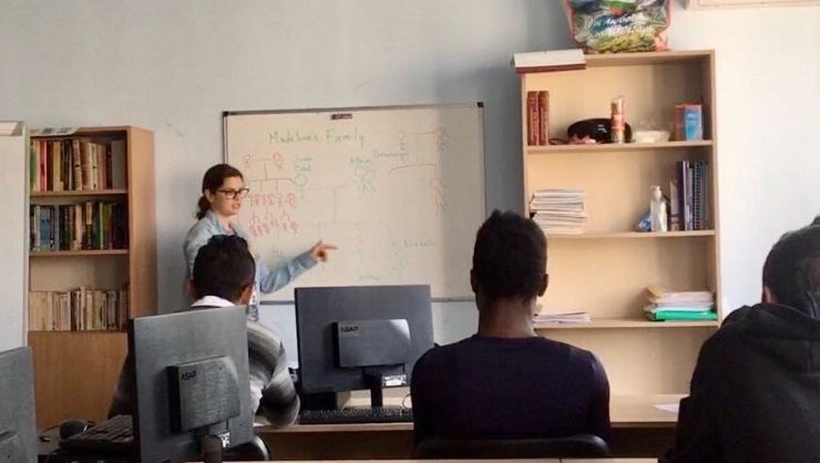 Teaching language classes to refugees and migrants in Bulgaria.