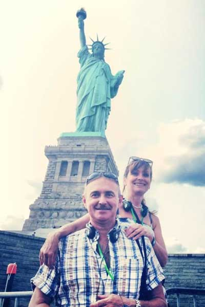 Tanya's Parents at the Statue of Liberty