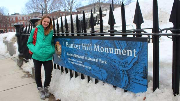 Britta visits Bunker Hill