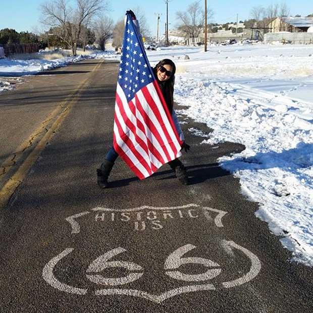 Melissa visits historic Route 66!