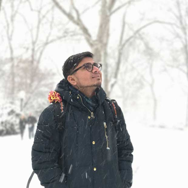 A snowy day in Central Park