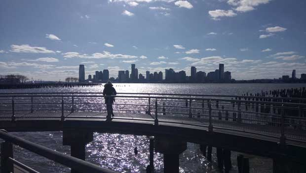 Visiting the beautiful Hudson River Park