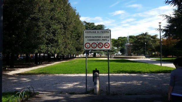 A snapshot of Girfalco Park in Fermo, Le Marche.