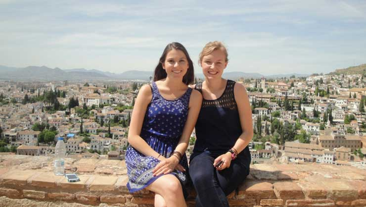 Jess and I soaking up beautiful Granada, Spain.