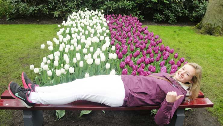 Jess took this photo of me in the Netherlands. I blend in well, right?