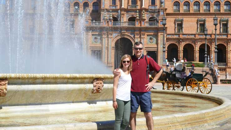 My dad visited me during the program and we took a trip to beautiful Seville.