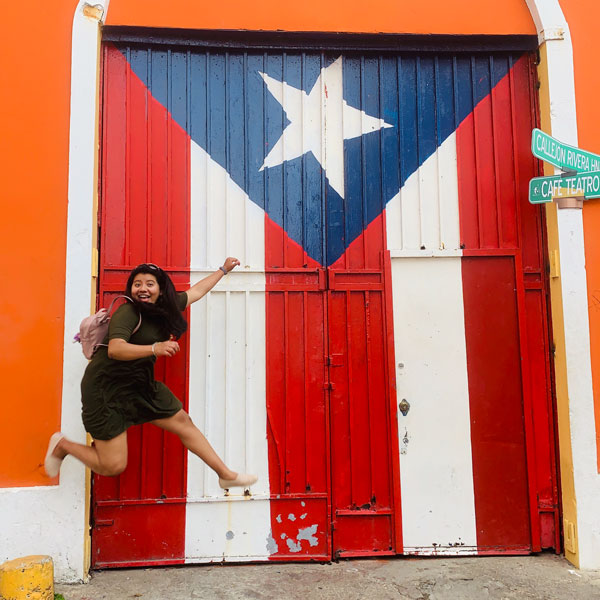 Karina visiting Puerto Rico
