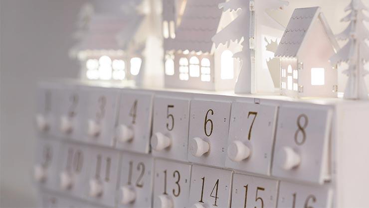 A white advent calendar
