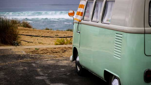 Rent or buy a camper van to travel the country with friends!