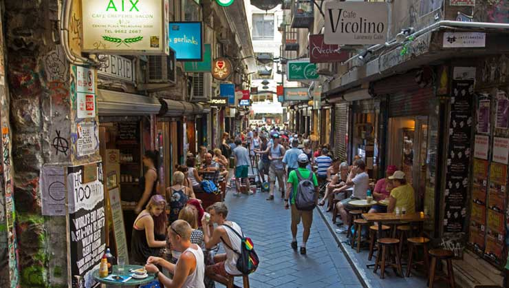 Take a stroll along Cafe Laneway in Melbourne Central Business District (CBD).