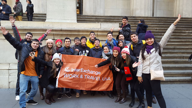 Students touring Federal Hall