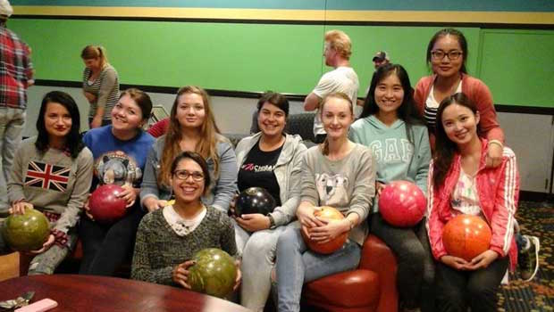 Participants in Traverse City, Michigan enjoyed a night of bowling.