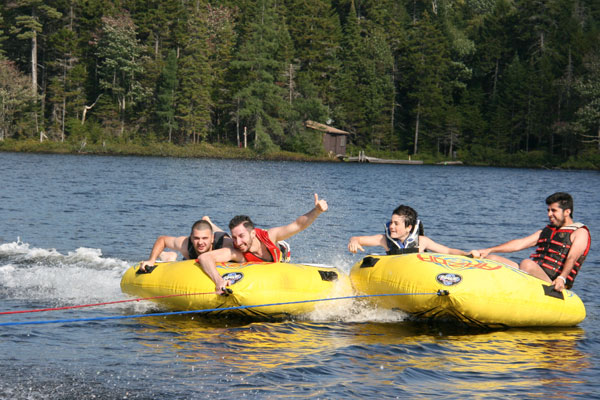 International students love to enjoy the lake when they're not working.