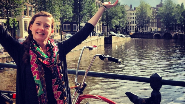 Happy au pair in Amsterdam