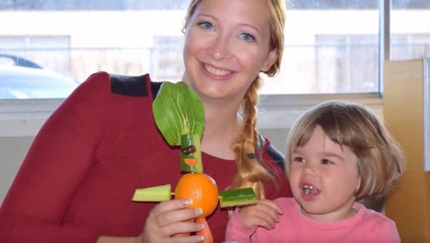 Au Pair with her host child
