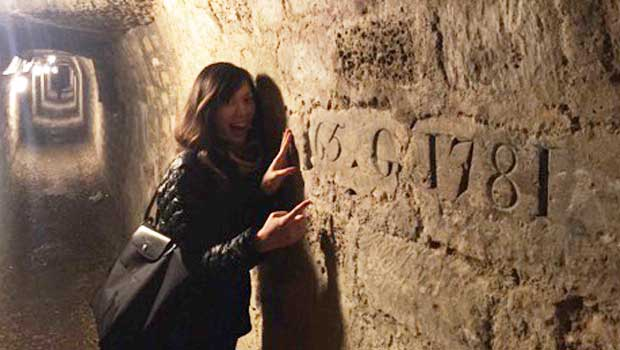 The Catacombs were engraved by the workers who made the passageways!