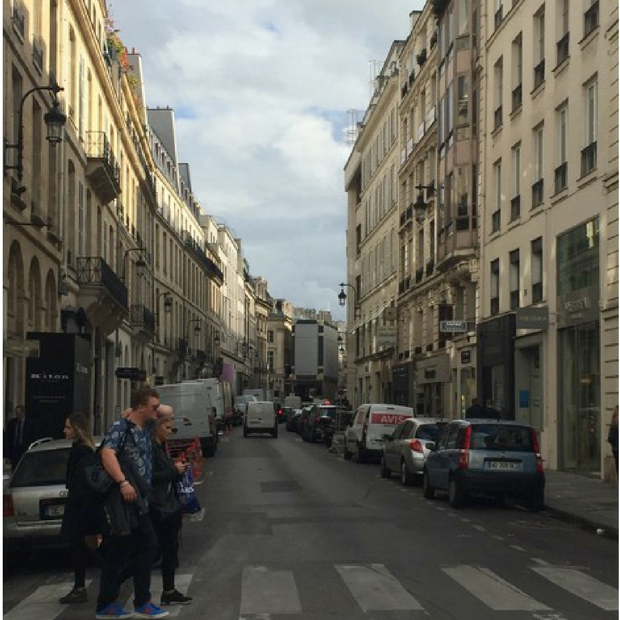Afternoon on a Parisian street.