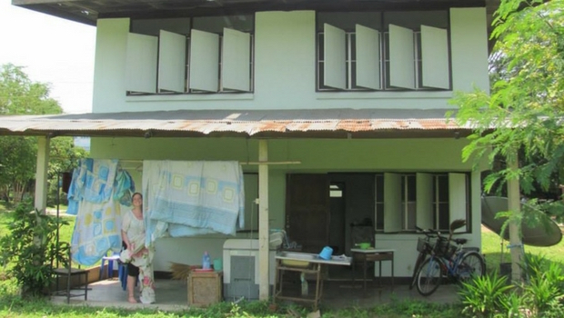 Kristen's house on the school grounds in Phayao Province.
