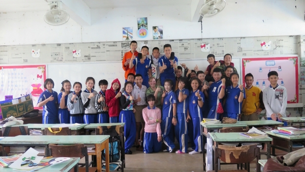 Kristen with her students in Phayao Province, Thailand.