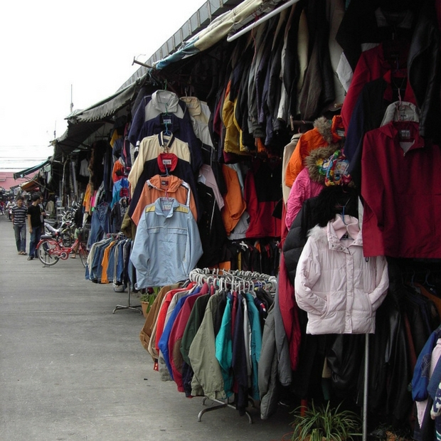 A typical Thai clothing stall.