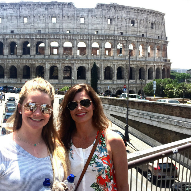 Melissa and I visiting the Colosseum.