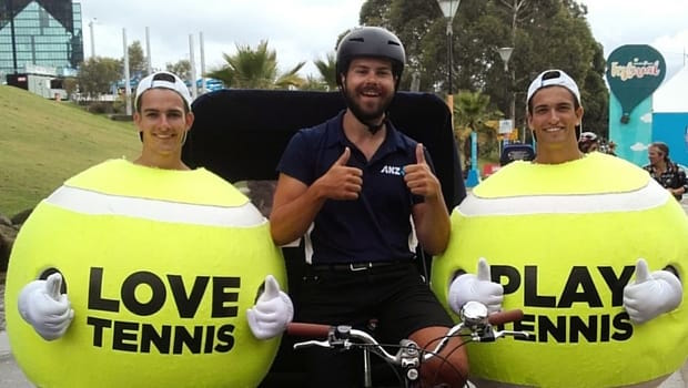 rickshaw driving during australia open